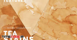 دانلود تکسچر کاغذ با اثر چایی  Tea Stains Paper Textures
