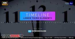 دانلود پروژه آماده افترافکت : زیرنویس به سبک تایم لاین Timeline Lower Third Elements