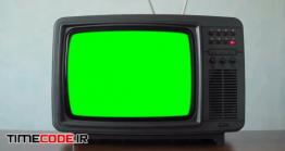دانلود فوتیج پرده سبز تلویزیون قدیمی Vintage Television