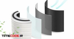 دانلود وکتور لایه های فیلتر هوا برای محافظت از کرونا Layers Of Clean Air Filters