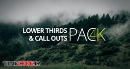 دانلود پروژه آماده افتر افکت : اینفوگرافی  Lower Third & Call Out Pack