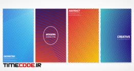 دانلود پترن وکتور Abstract Colorful Minimal Covers Pattern Design.