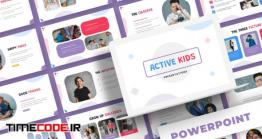 دانلود قالب پاور پوینت کودکان Active Kids – Powerpoint Template