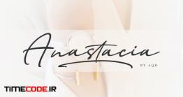 دانلود فونت انگلیسی به سبک امضا Anastacia Signature Font