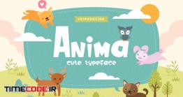 دانلود فونت انگلیسی فانتزی  Anima – Fun Children Typeface