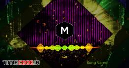 دانلود پروژه آماده افتر افکت : اکولایزر Audio Reactive Music Visualizer