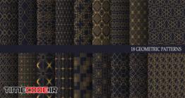 دانلود پترن با تم اسلامی Big Collection Of Luxury Geometric