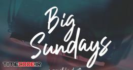 دانلود فونت انگلیسی دستنویس  Big Sundays