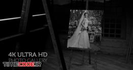 دانلود پروژه آماده افتر افکت : گالری عکس سیاه و سفید در آتلیه نقاشی Black And White Photo Gallery In An Art Studio At Night