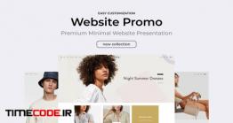 دانلود پروژه آماده افتر افکت : معرفی وب سایت Clean Minimal Website Promo