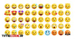 دانلود مجموعه وکتور ایموجی Collection Of Emoticons Reaction