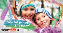 دانلود پروژه آماده افتر افکت : اسلایدشو کودک Colorful Brush Slideshow