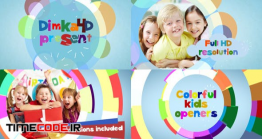 دانلود پروژه آماده افتر افکت : اسلایدشو کودک Colorful Flat Kids Openers