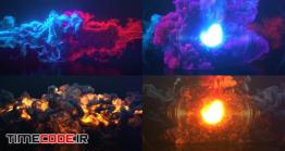دانلود پروژه آماده افتر افکت : لوگو موشن دود و آتش Colorful Smoke & Fire Logo