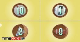 دانلود فوتیج شمارش معکوس با توپ های ورزشی Countdown