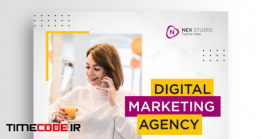 دانلود پست آماده اینستاگرام Digital Business Marketing Social Media Banner Square Flyer