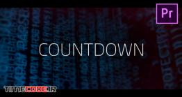 دانلود قالب موشن گرافیک پریمیر : شمارش معکوس Digital Countdown