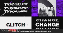 دانلود پروژه آماده افتر افکت : تایپوگرافی Energetic Glitch Typography