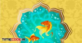دانلود وکتور عید نوروز مبارک Happy Nowruz Persian New Year Goldfish