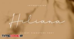 دانلود فونت انگلیسی به سبک امضا Hiliana Signature Font