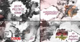 دانلود پروژه آماده افتر افکت : نمایش عکس با پخش شدن جوهر Ink Slideshow