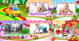 دانلود پروژه آماده افتر افکت : کلیپ جشن تولد Kids Intro Happy Birthday With Photo Video Display