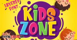 دانلود فونت انگلیسی فانتزی  Kids Zone