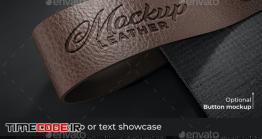دانلود موکاپ لوگو روی چرم Leather Logo Mockups