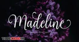 دانلود فونت انگلیسی پیوسته  Madeline Script