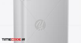 دانلود موکاپ گالن فلزی روغن موتور Matte Motor Oil Tin Can Mockup