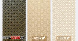 دانلود پترن با تم اسلامی Modern Set Of Flyers Whit Arabian Style Pattern Background