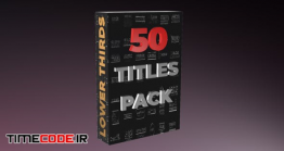 دانلود پروژه آماده افتر افکت : 50 تایتل Modern Titles