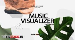 دانلود پروژه آماده افتر افکت : اکولایزر Music Lyrics Visualizer Modern