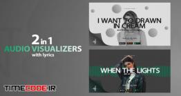 دانلود پروژه آماده افتر افکت : اکولایزر همراه با متن ترانه Music Visualizer Modern With Lyrics