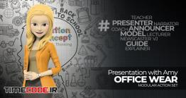 دانلود کاراکتر زن موشن گرافیک Presentation With Amy: Office Wear