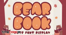 دانلود فونت انگلیسی فانتزی  QR Bear Book