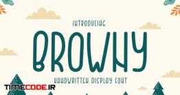 دانلود فونت انگلیسی فانتزی  QR BROWNY