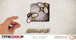 دانلود پروژه آماده افتر افکت : لوگو موشن با نقاشی Sketch Me Up