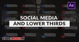 دانلود پروژه آماده افتر افکت : زیرنویس برای شبکه های اجتماعی Social Media And Lower Thirds Pack