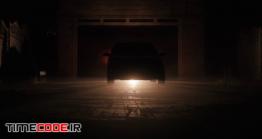 دانلود فوتیج روشن شدن چراغ ماشین در نور شب The Car Switch On Xenon Headlights At Night