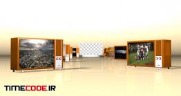 دانلود پروژه آماده افتر افکت : نمایش فیلم در تلویزیون TV Withplaceholders