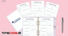 دانلود فایل لایه باز فرم برنامه ریز سلامتی Wellness Planner