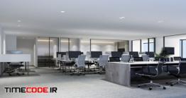 دانلود عکس طراحی داخلی دفتر کار مدرن Working Area In Modern Office