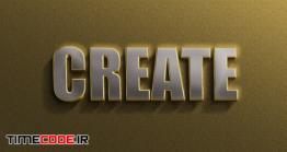 دانلود استایل آماده متن طلایی مخصوص فتوشاپ 3d Realistic Golden Silver Text Effects Template