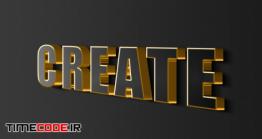 دانلود استایل آماده متن مخصوص فتوشاپ 3d Sign Wall Black Gold Effects Editable Text