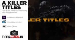 دانلود پروژه آماده افتر افکت : تیتراژ جنایی A Killer Titles