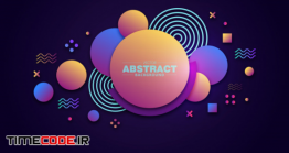 دانلود بک گراند گرافیکی با سه دایره Abstract Background 3d Circle Gradiant Color