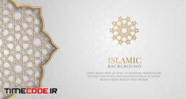 دانلود پس زمینه با نقوش اسلامی Arabic Islamic Elegant White Luxury Ornament Background