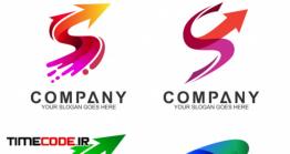دانلود فایل لایه لوگو با طرح اس با فلش Arrow + Letter S Business Logo Set