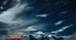 دانلود عکس آسمان در شب Backgrounds Night Sky With Stars And Moon And Clouds